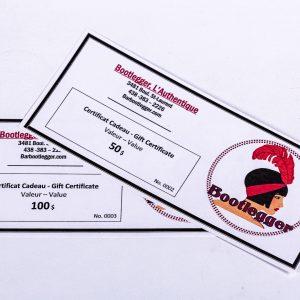 bar bootlegger montreal certificat cadeau